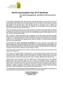 WCD 2019 SEC Manifest